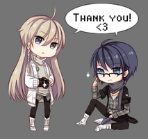 Bonus gift: Thank you page dolls by ZenithOmocha