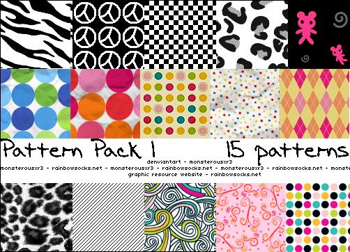 Pattern Pack 1 by monsterousxr3