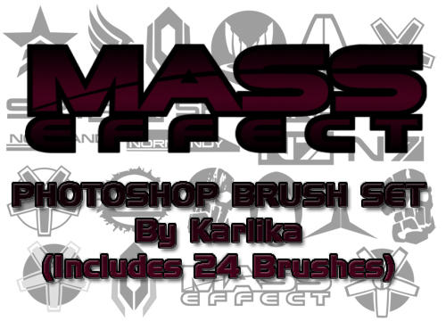 Mass Effect Photoshop Brushes by Karlika