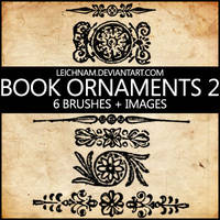 Book Ornaments Brushes 2