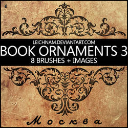 Book Ornaments Brushes 3
