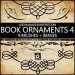 Book Ornaments Brushes 4