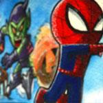 Spidey vs Green Goblin Animated gif