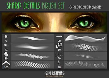 Sharp Details Brush Set by Suki-Brushes