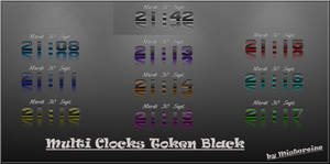 Clocks Token Black