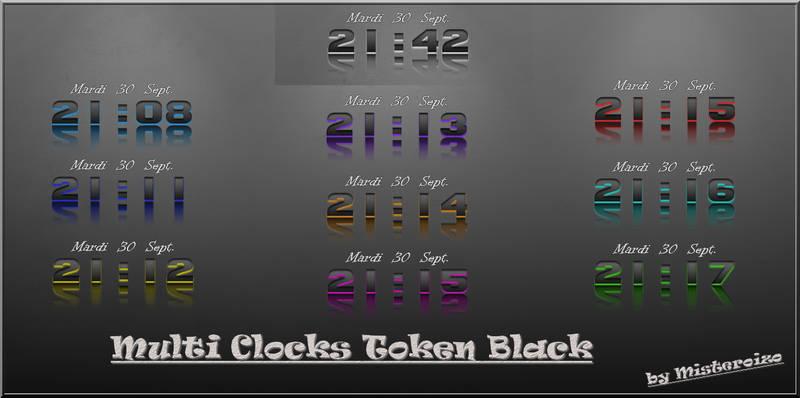 Clocks Token Black