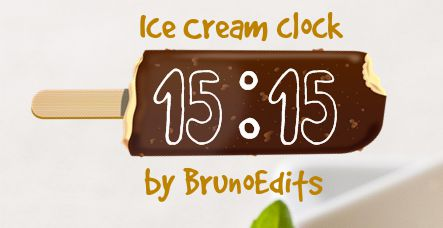 XWidget - Ice Cream clock by BrunoEdits