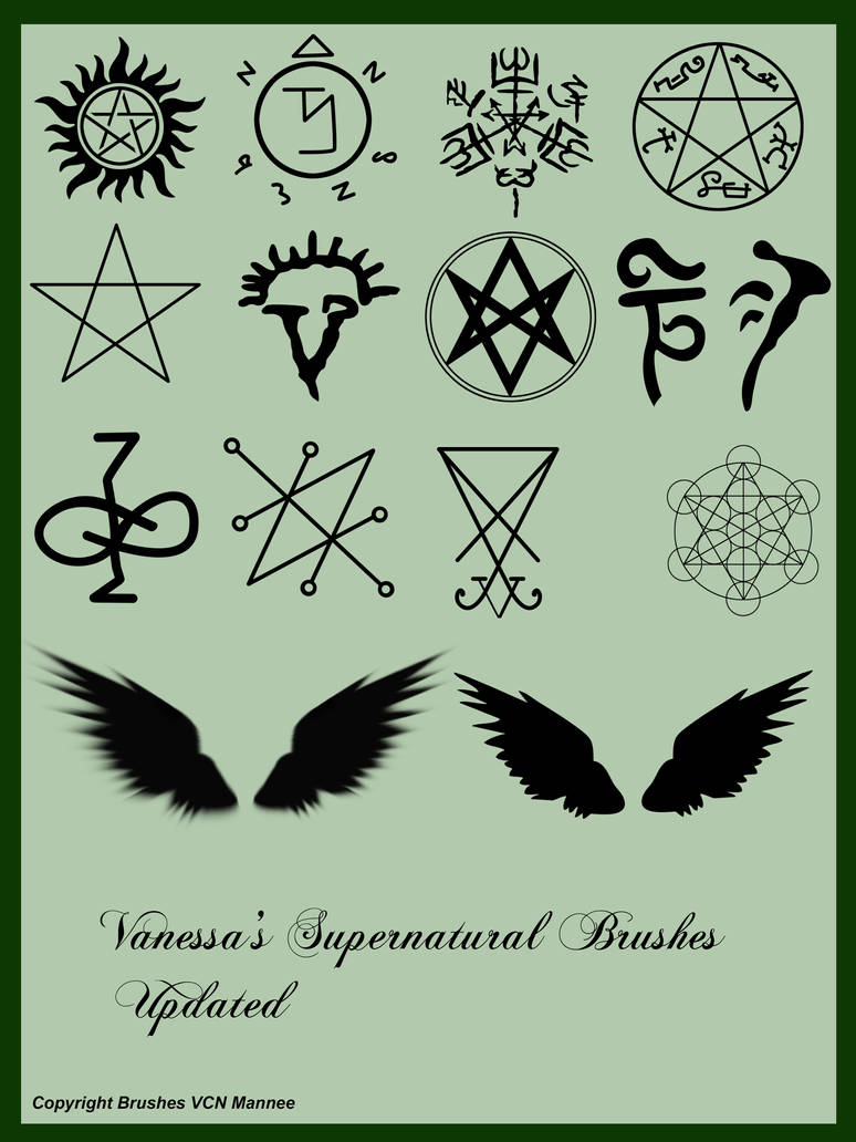 Vanessa's Supernatural Brushes Updated by Vanessa28