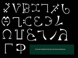 Enochian ABC brushes by Vanessa28