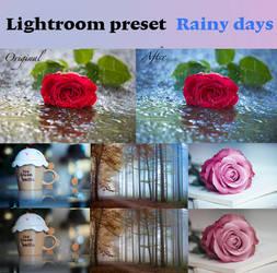 Lightroom preset Rainy Days by Pamba