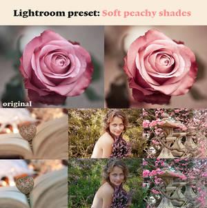 Soft peachy shades
