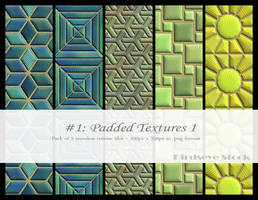 Padded Textures 1 by BirdseyeStock