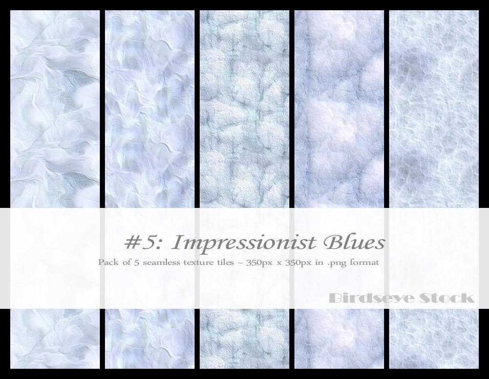 Impressionist Blues by BirdseyeStock