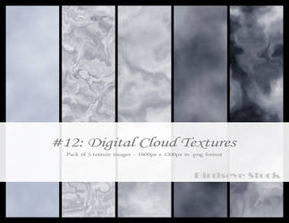 Digital Cloud Textures by BirdseyeStock