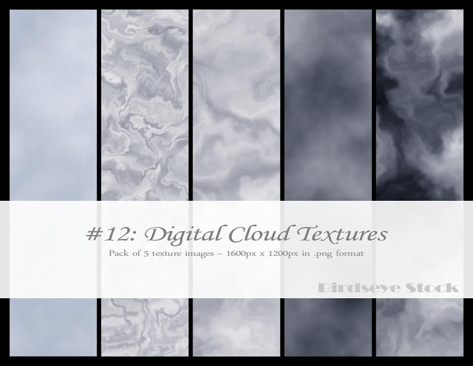Digital Cloud Textures by BirdseyeStock
