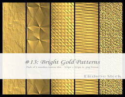Bright Gold Patterns by BirdseyeStock