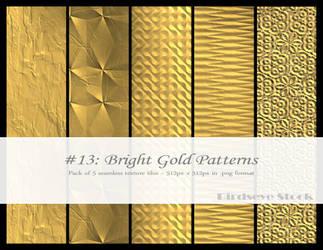 Bright Gold Patterns by BirdseyeStock