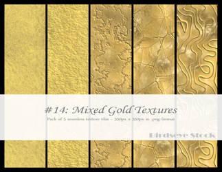 Mixed Gold Textures by BirdseyeStock