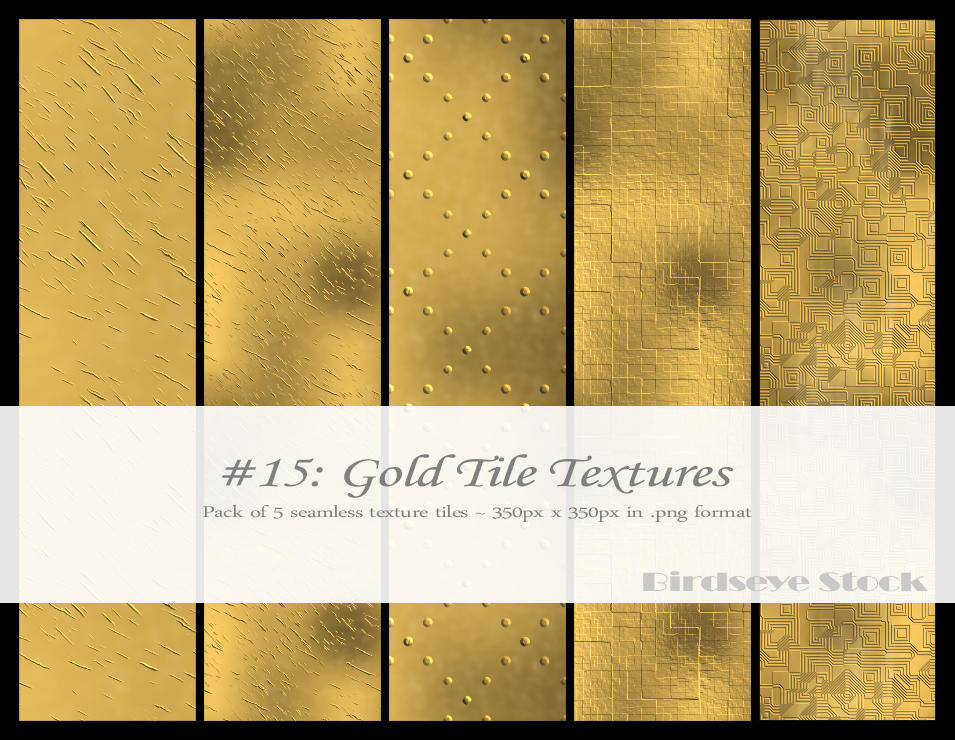 Gold Tile Textures by BirdseyeStock