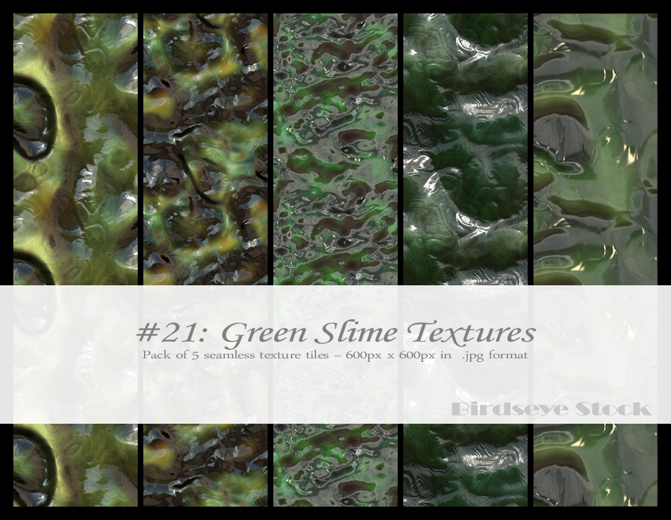 Green Slime Textures by BirdseyeStock