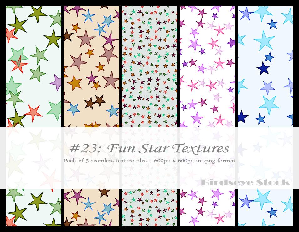 Fun Star Textures by BirdseyeStock
