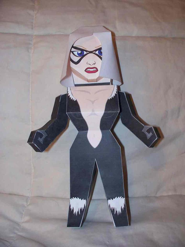Black Cat paper hero by SharkBomb