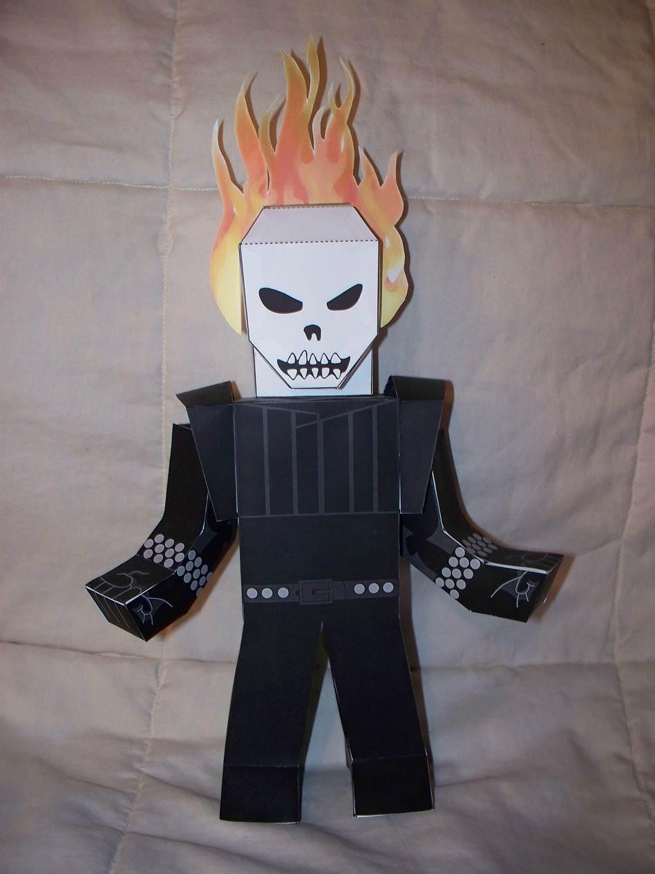 Ghost Rider paper hero by SharkBomb
