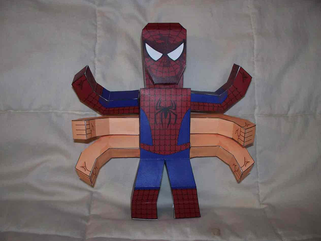 6 Arms Spider-Man Paper Action by SharkBomb