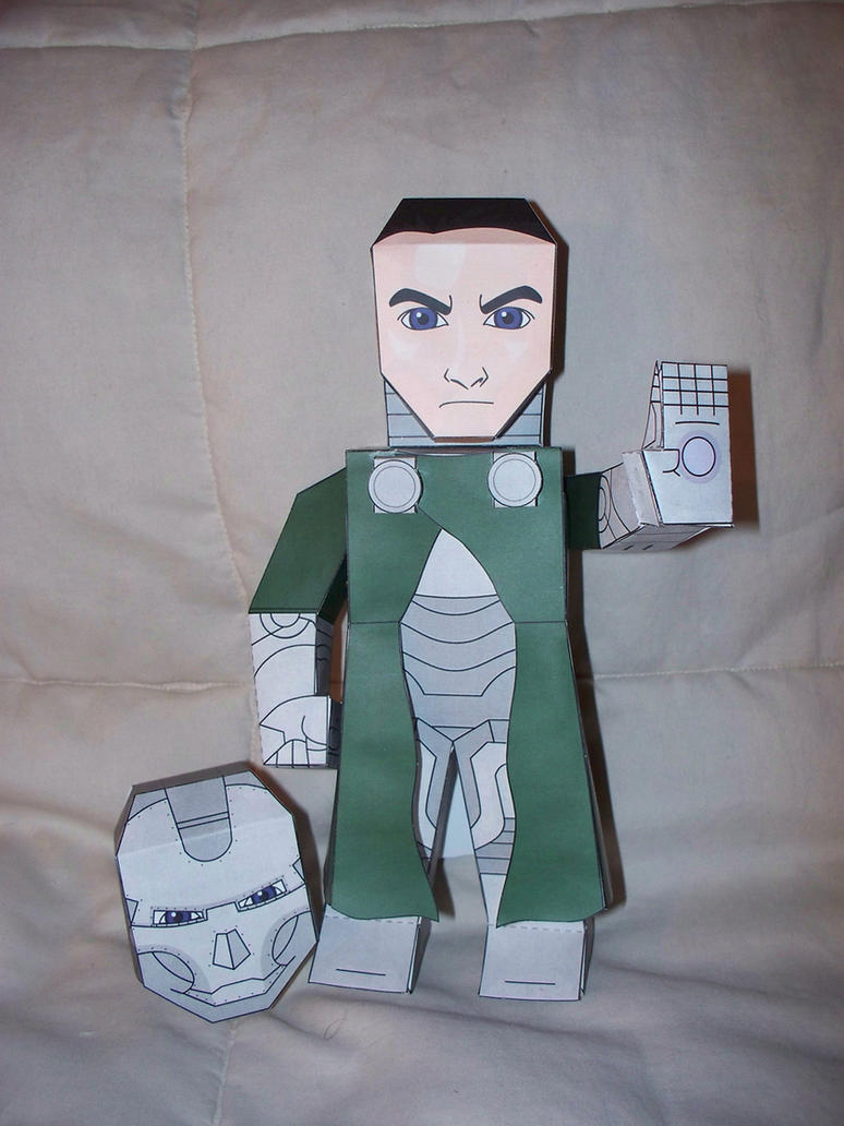 Dr. Doom Paper Hero by SharkBomb