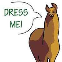 dA Llama Dress Up - UPDATE