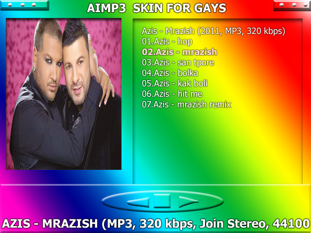 Free AIMP3 Skin for GAYS