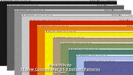 Colored OS 9 Default Patterns
