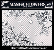 Manga Flowers Png's Pack | ColdLove98
