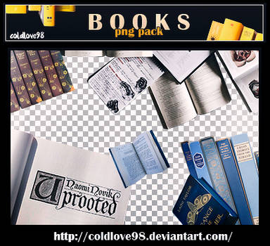 Books Png's Pack | ColdLove98