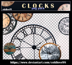 Clocks Png's Pack | ColdLove98