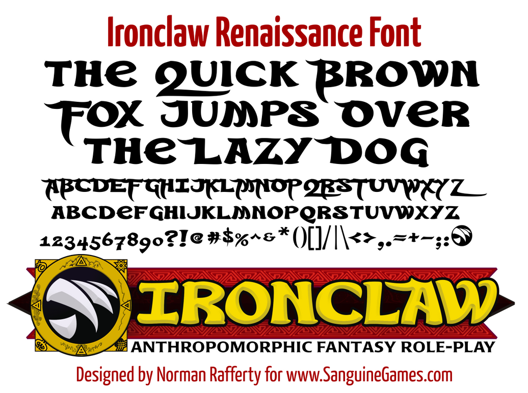 Ironclaw Renaissance Font by Rafferty