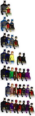Batman Family by Arryc
