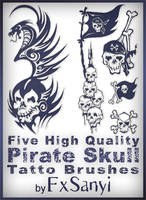 Pirate Skull Tattoo Brushes by FxSanyi