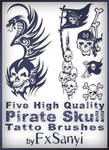 Pirate Skull Tattoo Brushes