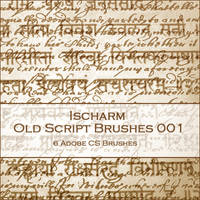 Ischarm Old Script Brushes 001 by ischarm-stock