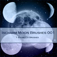 Ischarm Moon Brushes 001 by ischarm-stock