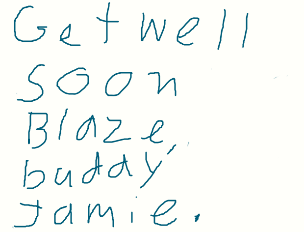 a get well card for Blaze ( ultimate-redranger.) by sailorcancer01