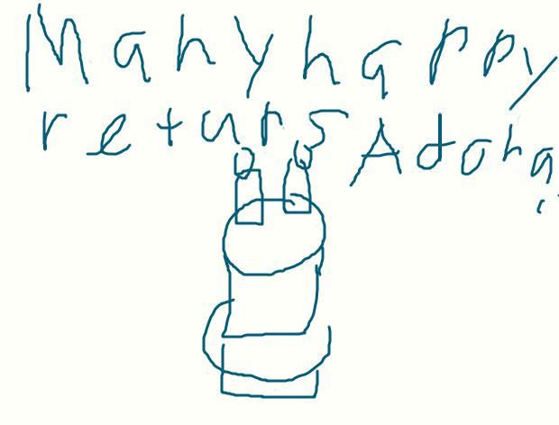 a birthday card for Adora by sailorcancer01