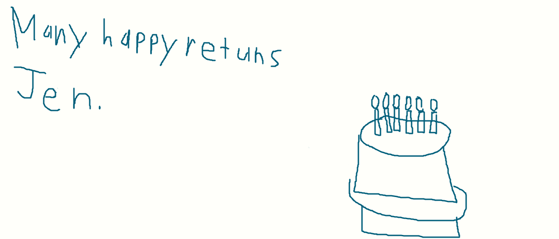 a birthday card for Jen. by sailorcancer01