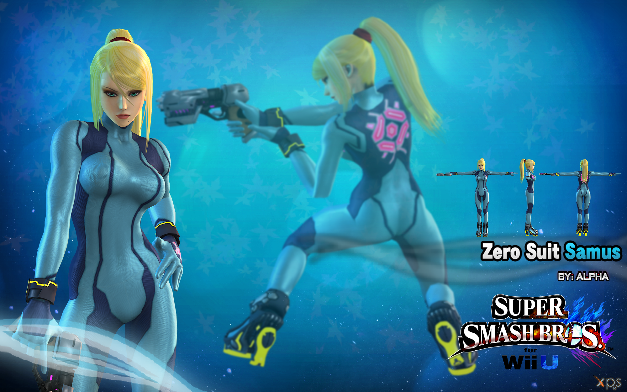 Naked Zero Suit Samus Texture 96