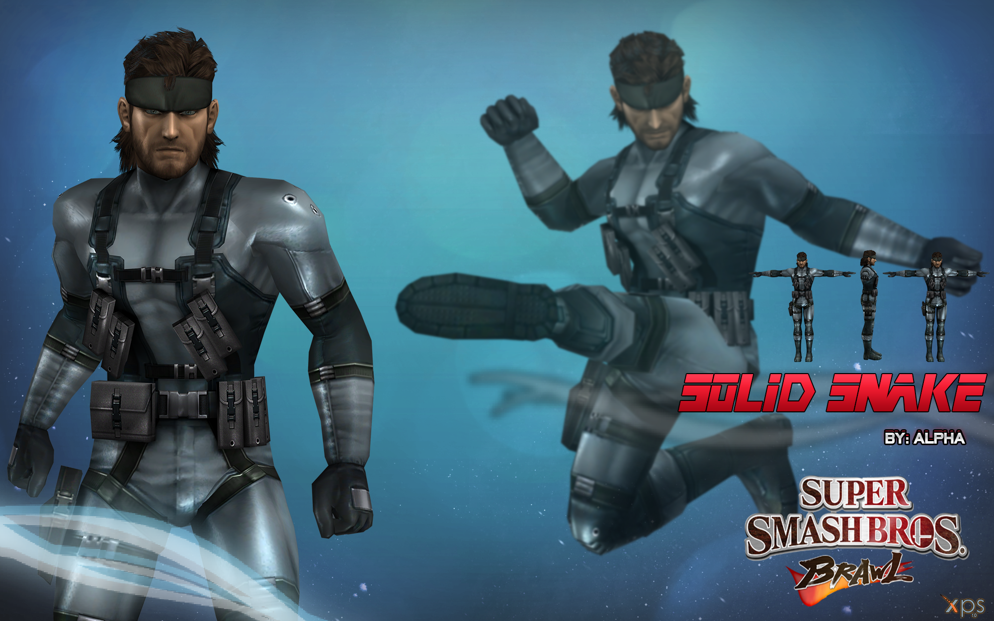 Super Snake 2017 >> Super Smash Bros. Brawl - Solid Snake by XNASyndicate on ...