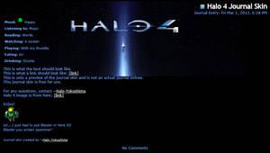 Halo 4 Journal Skin