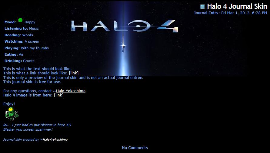 Halo 4 Journal Skin by Halo-Yokoshima