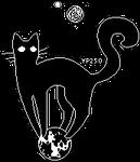 Astronomy Black Cat [GIF]