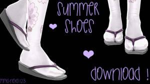 Summer Shoes DL ! by mmd-neko123
